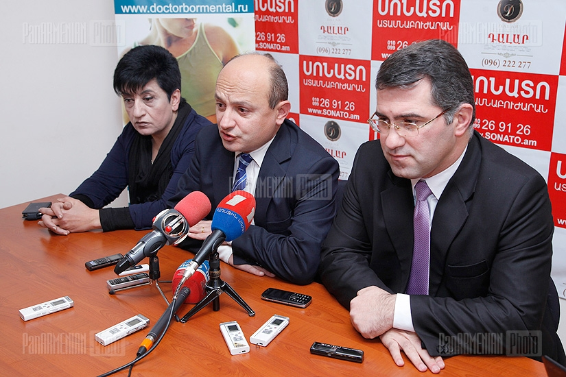 Press conference of Stepan Safaryan, Armen Martirosyan and Susanna Muradyan