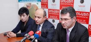Press conference of Stepan Safaryan, Armen Martirosyan and Susanna Muradyan