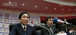 Press conference of AIBA President Ching-Kuo Wu