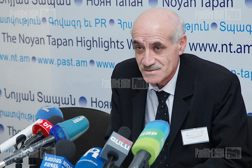 Press conference of Martik Sargsyan