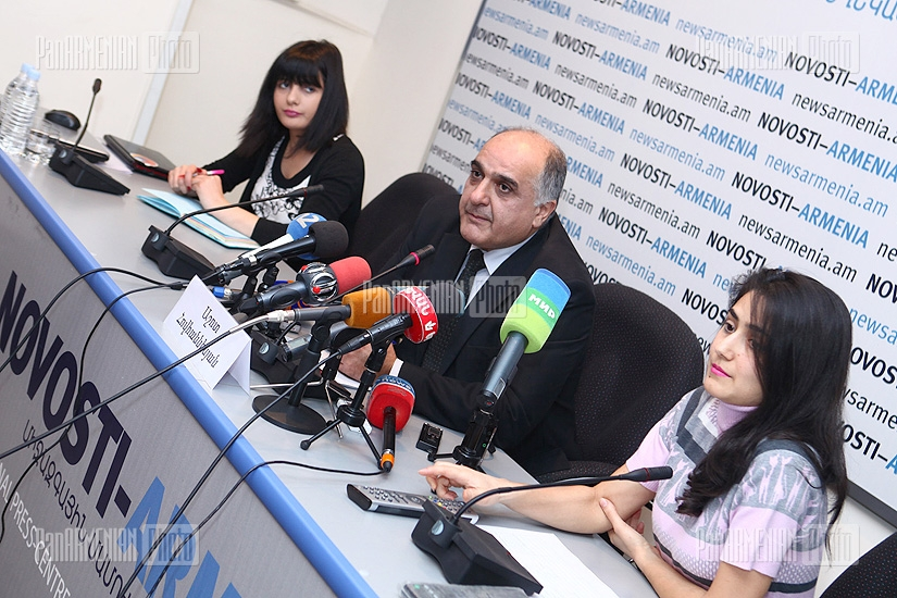 Press conference of Ashot Hovhannisyan