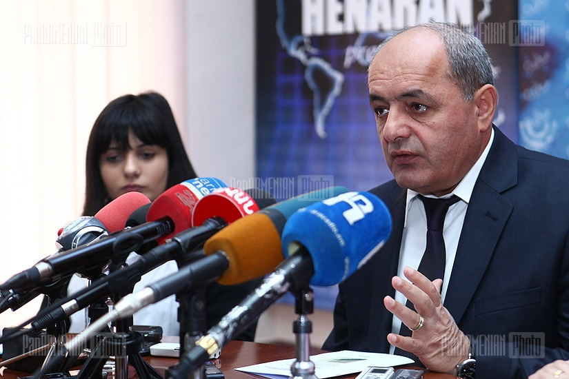 Press conference of Garnik Petrosyan