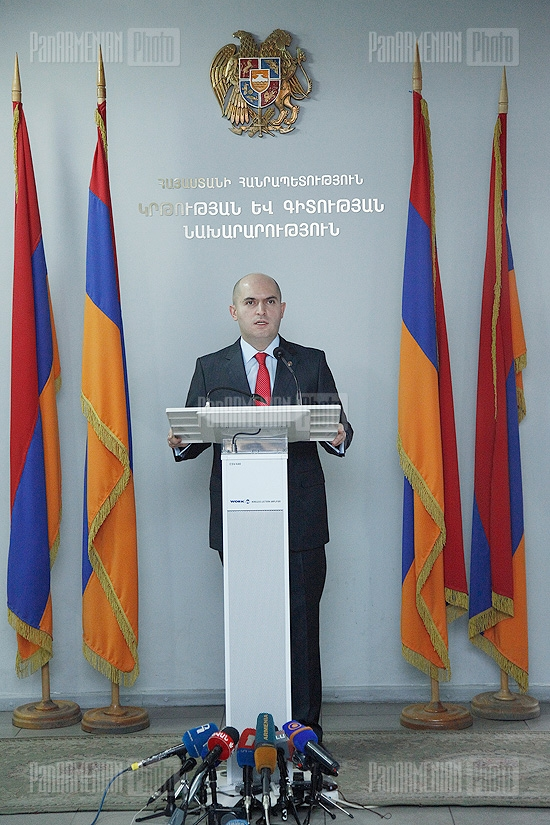 Press conference of Minister of Education and Science Armen Ashotyan