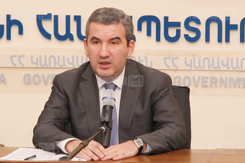 Press conference of RA State Commission for the Protection of Economic Competition Artak Shaboyan