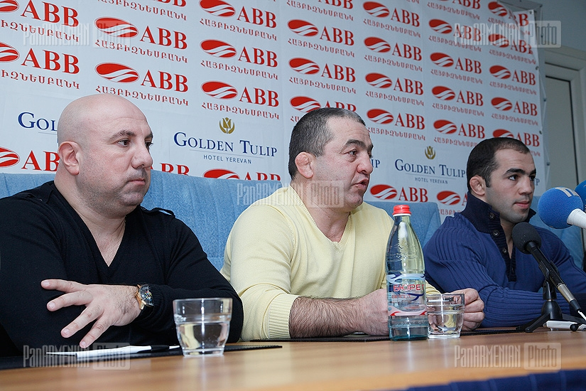 Press conference of Arsen Julfalakyan, Levon Julfalakyan and Samvel Gevorgyan