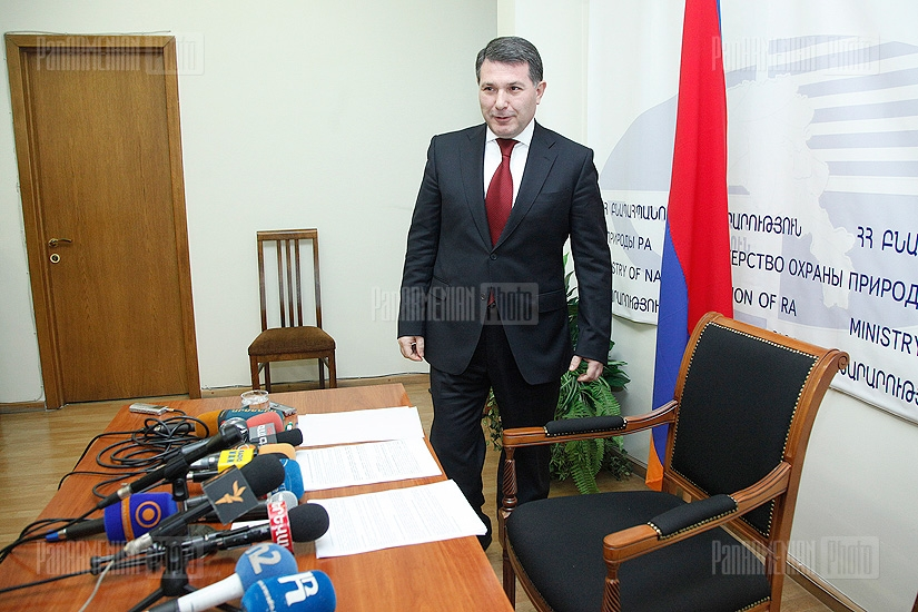 Press conference of Minister of Environment Protection Aram Harutyunyan