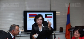 In Diaspora Ministry the Ambassador of Kuwait in Armenia presents financial assistance certificate to the organization dealing with problems of Syrian-Armenians