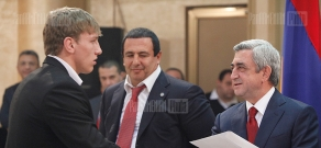 Armenian President, ARMNOC head award best athletes of 2012