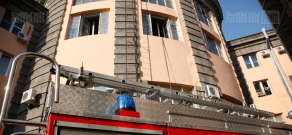 Fire at Armenian State Economics University was successfully put out