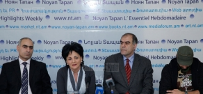 Press conference of Pre-parliament members Garegin Chukazyan, Syuzan Simonyan, Vardan Hakobyan and Yeghia Nersisyan