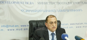 Press conference of Minister of Urban Development Samvel Tadevosyan