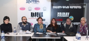 Press conference of Zaruhi Postanjyan, Karen Hakobyan, Lala Aslikyan, Seda Melikyan Zhanna Alexamyan and Arthur Sakunts