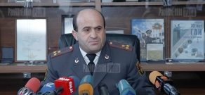 Press conference of RA Road Traffic Police head Norik Sargsyan