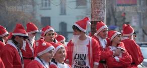 Santas run organized in Yerevan within the frameworks of Witnerfest 2012