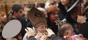 Christmas Liturgy serving ceremony in Mother See of Holy Echmiadzin