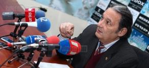 Press conference of sociologist Aharon Adibekyan