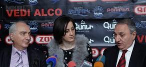 Press conference of Prosperous Armenia Party member Vardan Bostanjyan and Head of Armenia's Democratic Party Aram Sargsyan