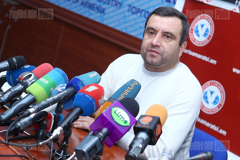 Press conference of of presidential candidate Vardan Sedrakyan