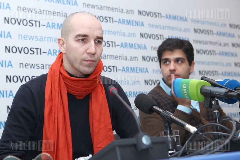 Press conference of Mario Stefano Pietrodarchi and Sergey Smbatyan