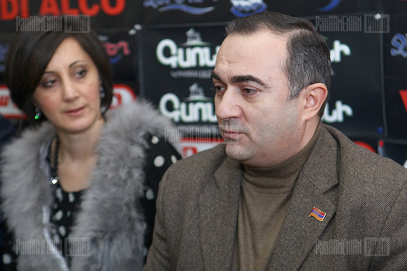 Press conference of Tevan Poghosyan and Azat Arshakyan