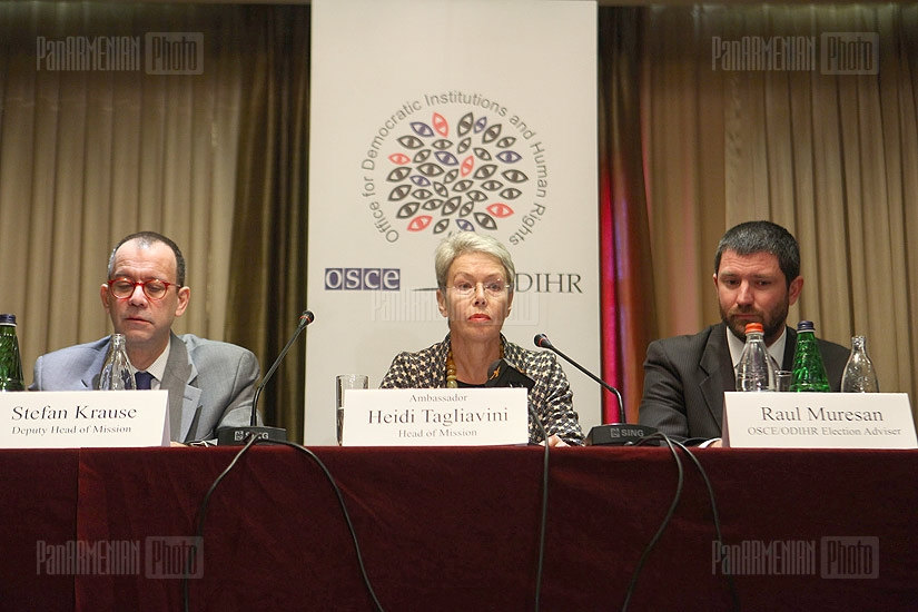 Press conference of Head of the OSCE/ODIHR Election Observation Mission in the Republic of Armenia Heidi Tagliavini