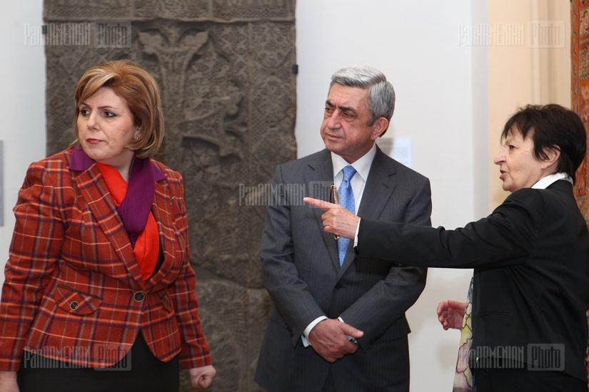 Armenian President Serzh Sargsyan visits Armenian history museum