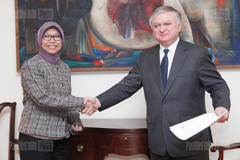 Foreign Minister Edward Nalbandian meets with Indonesian Ambassador