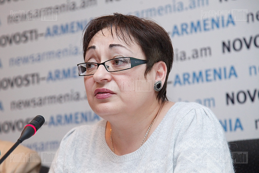 Press confernce of Larisa Alaverdyan and Marina Grigoryan