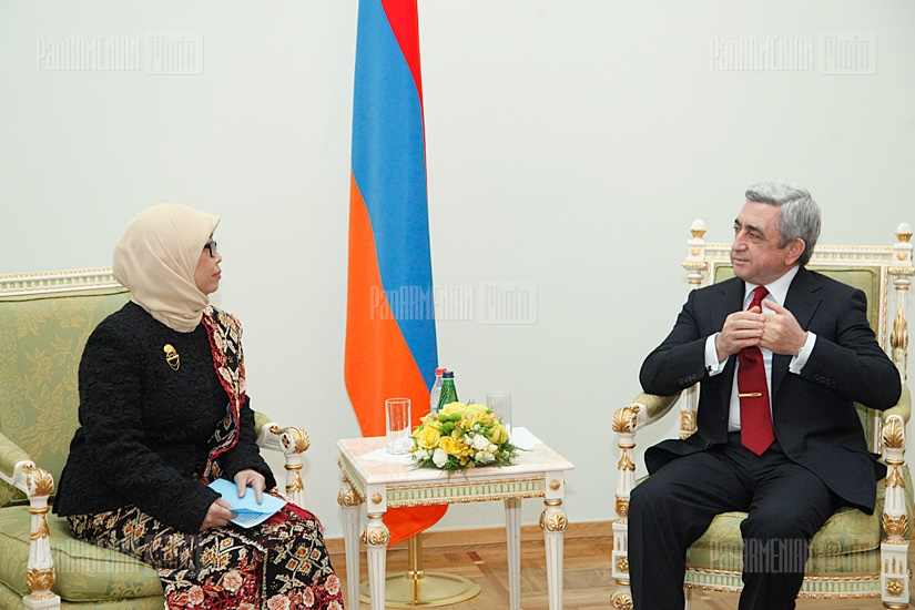 Armenian president meets with Indonesian ambassador