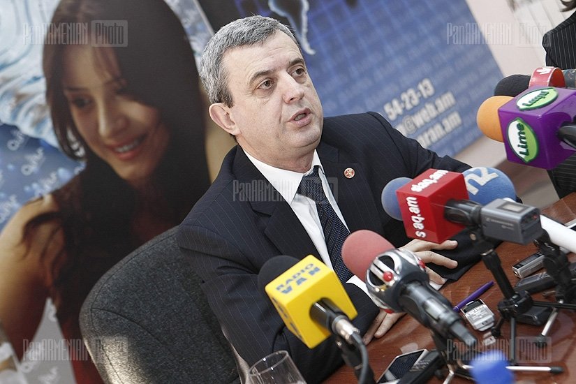 Press conference of Gagik Minasyan