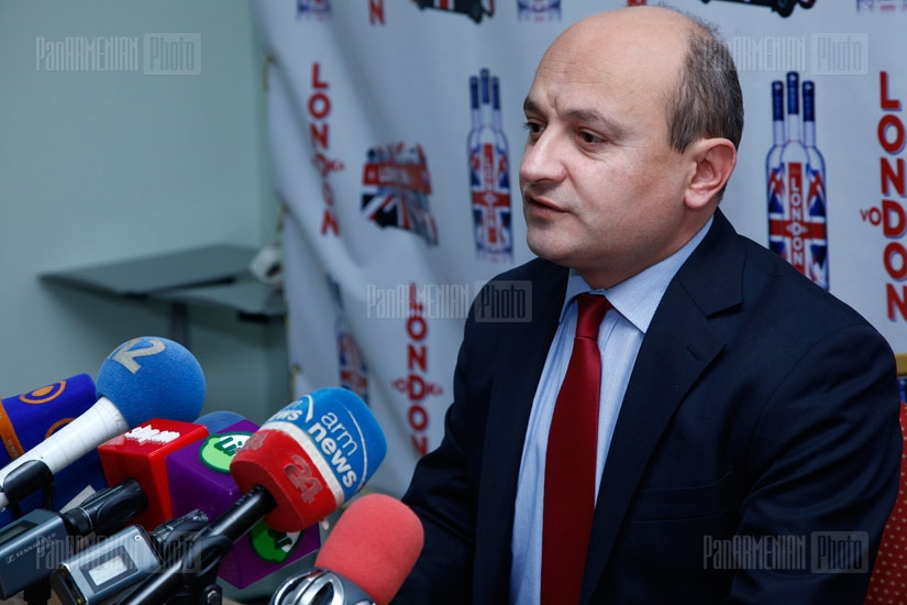 Press conference of Heritage party member Styopa Safaryan