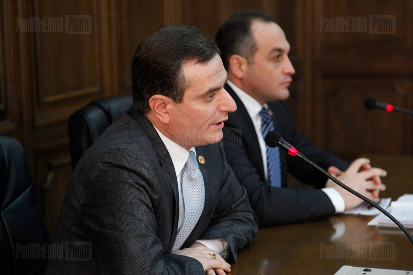 Press conference of Artak Zakaryan and Koryun Nahapetyan