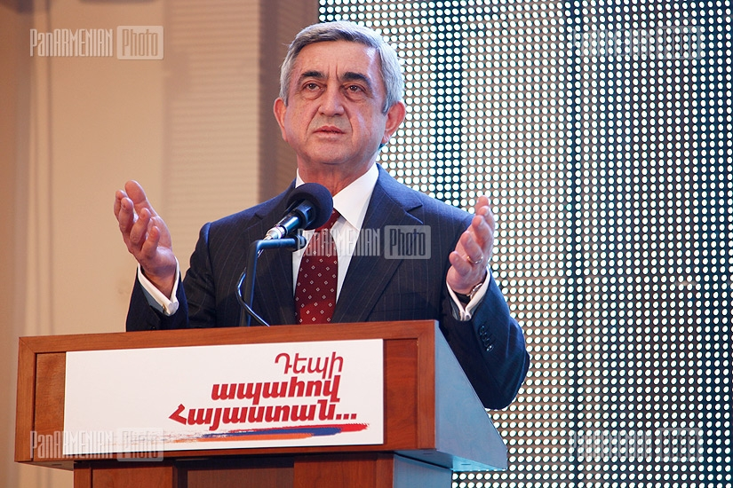 Serzh Sargsyan launches his pre-election campaign