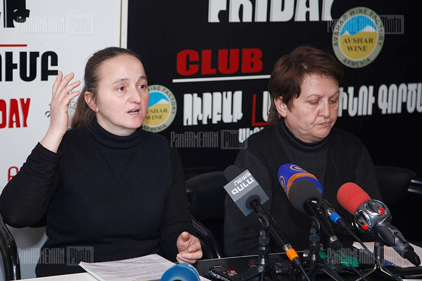 Press conference of parents of soldiers who died in Army during the Peacetime