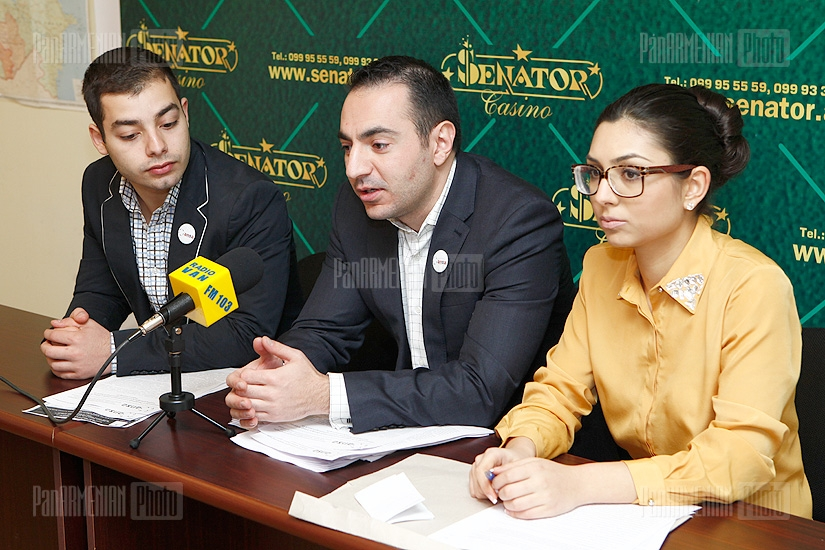 Press conference of Sargis Asatryants, Sergey Qocharyan and Tatevik Sargsyan