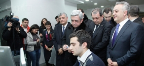 Presidential candidate Serzh Sargsyan visits Tavush Province