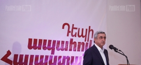 Presidential candidate Serzh Sargsyan meeting with residents of Berd