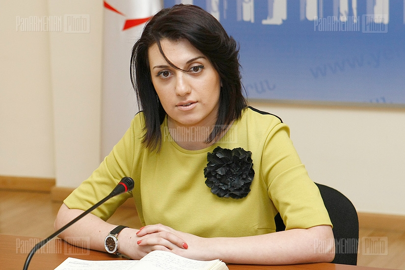 Press conference of Maria Baraghamyan