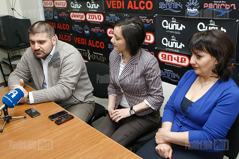 Press conference of Armine Ohanyan and Arman Babajanyan