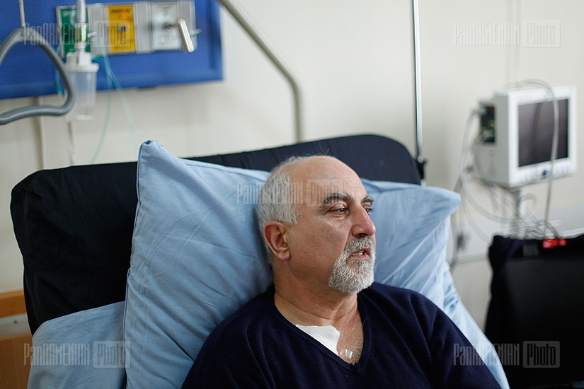 Presidential candidate Paruyr Hayrikyan on the second day after the operation