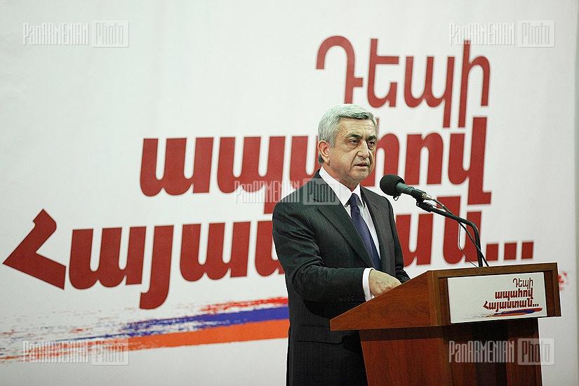 RA President's candidate Serzh Sargsyan's meeting with Malatia-Sebastia residents