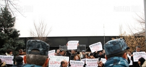 Protest  in front of the CEC building and OSCE/ODIHR Office in Yerevan