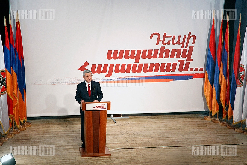 RA presidential candidate Serzh Sargsyan visits Kanaker-Zeytun administrative district