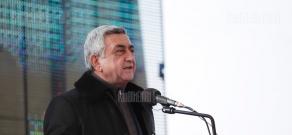 RA presidential candidate Serzh Sargsyan visitis Shirak Province