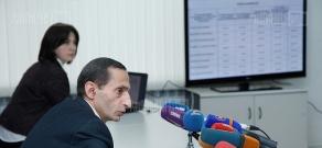 Press conference of NCTR President Grigor Amalyan