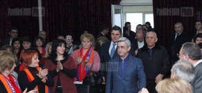 RA presidential candidate Serzh Sargsyan visitis Erebuni, Nubarashen administrative district