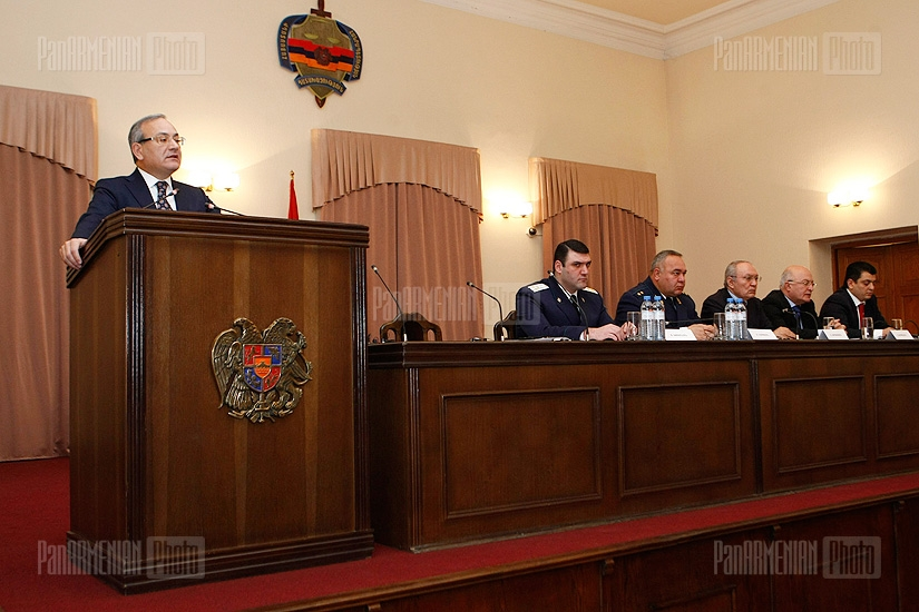 Meeting board in Prosecutor General's Office