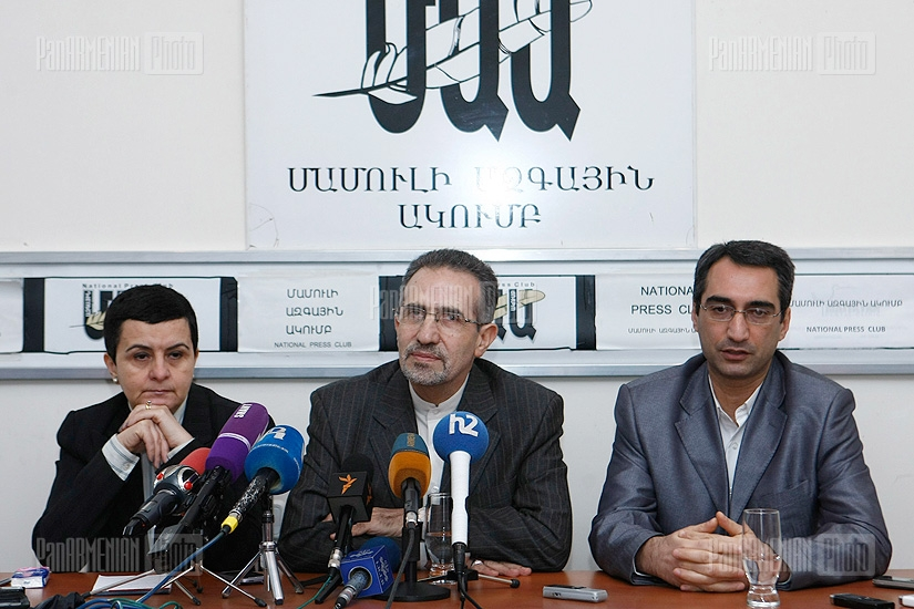 Press conference of Ambassador of the Islamic Republic of Iran to Armenia Mohammad Reisi