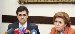 Press conference of Hasmik Poghosyan and  VivaCell-MTS CEO Ralph Yirikyan