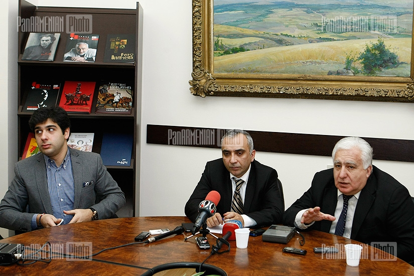 Press conferencie of Sergey Smbatyan, Gagik Manasyan and Arthur Poghosyan